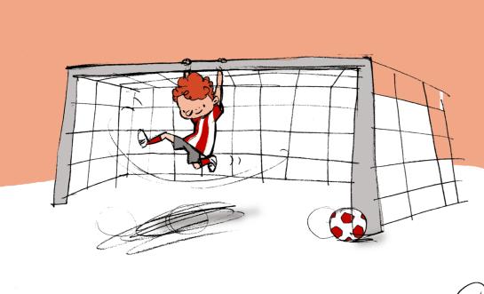 Calcio_ragazzino attaccato alla porta